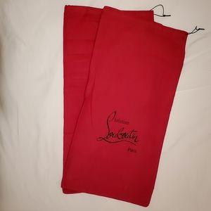 Set of Christian Louboutin Boots Dust Bag